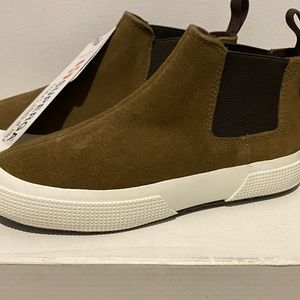 Superga Boys Size 11 Suede Leather Boots BNWT $119